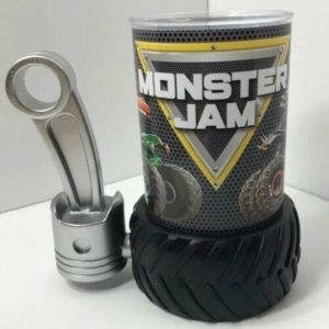 Monster Jam Cup In Tire & Gear Shift Holder Grave Digger Zombie Toro Loco Feld