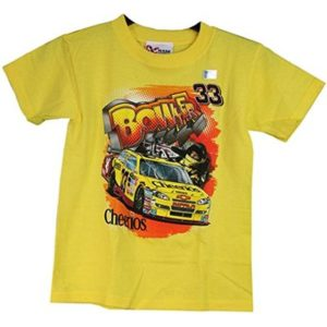 Chase Authentics NASCAR Clint Bowyer Cheerios Boy's Double Sided T-Shirt (XL) Yellow