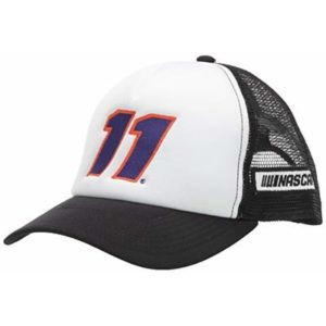 NASCAR Joe Gibbs Racing Denny Hamlin Mens Plain 'Ol TruckerPlain 'Ol Trucker, White/Black, Adjustable