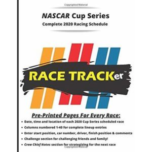 RACE TRACKer – Complete NASCAR Cup Series 2020 Racing Schedule – BLACK: Interactive Notebook –  Challenges, Prediction Questions, Enter Driver Start … Notes, and more. Fun for the whole family!