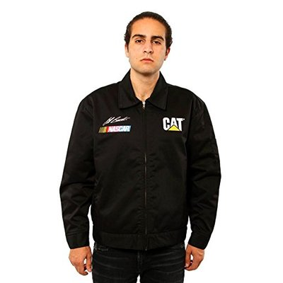 Men's Nascar Jeff Burton Caterpillar Racing Mechanics Jacket (XXL) Black