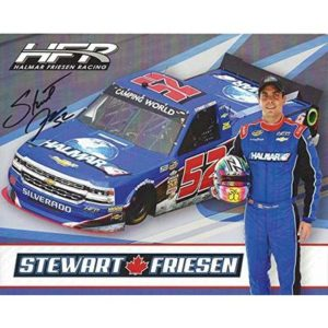 AUTOGRAPHED 2018 Stewart Friesen #52 Halmar Team (Halmar Friesen Racing) Camping World Truck Series Signed Collectible Picture 8X10 Inch NASCAR Hero Card Photo with COA