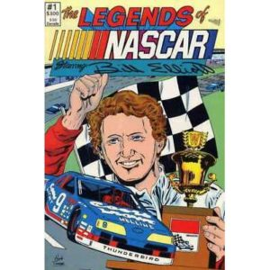 Legends of NASCAR #1 2nd printing in NM minus condition. Vortex comics [*dq]