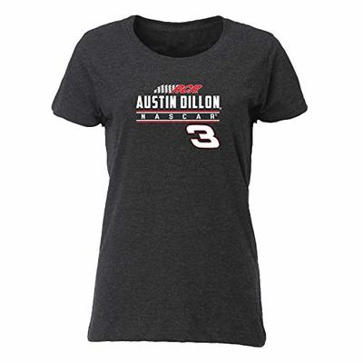 Ouray Sportswear NASCAR Women's Vintage Blend Relaxed Fit Tee Austin Dillon, Smoke, X-Large