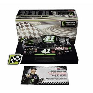 AUTOGRAPHED 2018 Kurt Busch #41 Monster Team BRISTOL NRA NIGHT RACE WIN (Raced Version) Stewart-Haas Racing Signed Lionel 1/24 Scale NASCAR Diecast Car with COA (#331 of only 505 produced!)