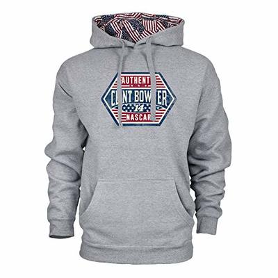 Ouray Sportswear NASCAR Men's Benchmark Colorblock Pullover Hood Clint Bowyer, Heather Grey/Flag, XX-Large