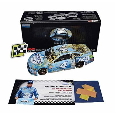 2X AUTOGRAPHED 2018 Kevin Harvick & Rodney Childers #4 Busch Light KANSAS WIN (Raced Version with Confetti) Signed Lionel RCCA ELITE 1/24 Scale NASCAR Diecast Car with COA (#191 of only 318 produced!)