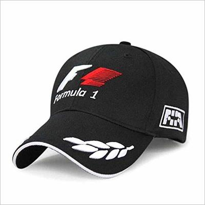 Yunbai Men's Hat Women's Hat Cotton Cap Adjustable Cap Sports Cap, Men Formula 1 Baseball Caps Black F1 3D Embroidery Hats Motorcycle Racing Moto GP Caps Outdoor Adjustable Sports Sun Hat Gorro