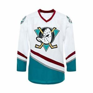 Custom Mighty Ducks Movie Ice Hockey Jersey 90S Hip Hop Men Youth Clothing for Party Stitched Name Number F1 White