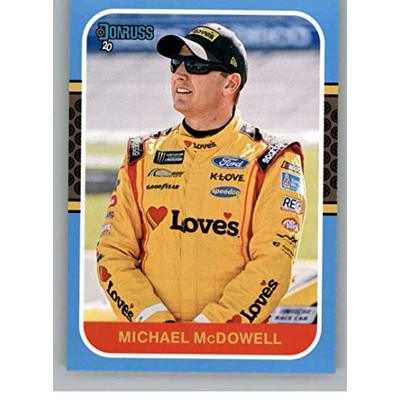 2020 Donruss Carolina Blue Racing #136 Michael McDowell Love's Travel Stops/Front Row Motorsports/Ford Official NASCAR Trading Card From Panini America