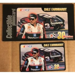 Dale Earnhardt NASCAR Collectible 15 Minute Phone Card, 1999, Unused, Brand New