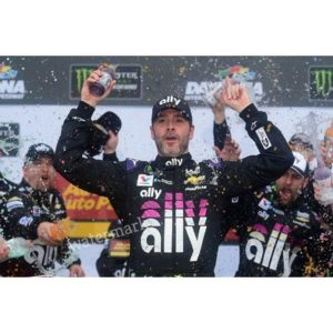 NASCAR DRIVER JIMMIE JOHNSON SEVEN TIME CHAMPION BIG WIN POSE  PUBLICITY PHOTO