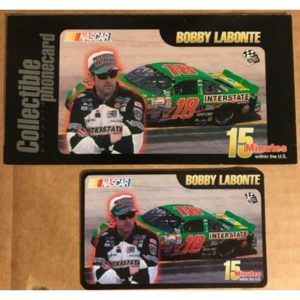Bobby Labonte NASCAR Collectible 15 Minute Phone Card, 1999, Unused, Brand New