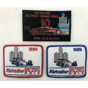 3 VALVOLINE Detroit GRAND PRIX Automobile Racing Patch 1989 -90-91 FORMULA ONE