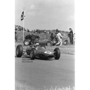 Lotus Formula One factory racer Phil Hill 1963 Dutch F1 Grand Prix Zandvoort