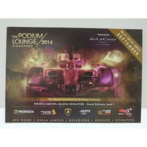 LUCKYPIGEON888 Singapore Formula One F1 Racing Car 2014 Ad Postcard (E0070)