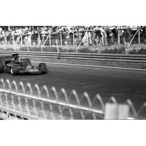 B&W 35mm Negative Formula One 1973 Belgian GP, Emerson Fittipaldi Lotus-Ford