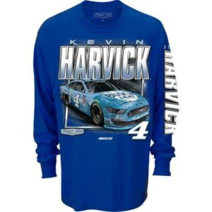 Men's Kevin Harvick Busch Light Nascar Long Sleeve Qualifier T-Shirt, Blue