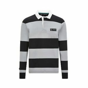 Mercedes Benz AMG Petronas F1 Men's Long Sleeve Polo Black