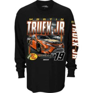 Men's Martin Truex Jr Bass Pro Shops Nascar Long Sleeve Qualifier T-Shirt, Black