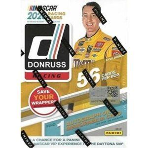 2020 Donruss Racing NASCAR Sealed 56c Blaster Box 1 Auto (Autograph) or Memorabilia Card Per Box on Average Look for Hailie Deegan, Brittany Zamora Orange and Optic Orange Parallel Cards Find an insert and parallel in every pack Each blaster will have 1 e