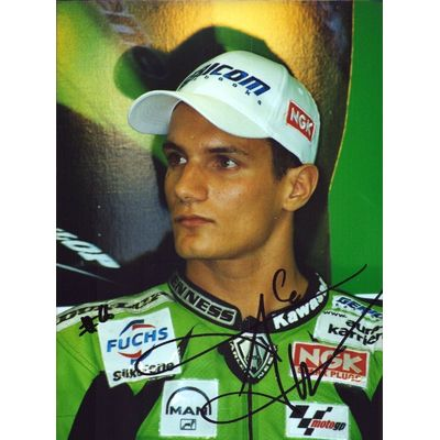 Alex Hofmann Motorcycle Motogp Original Autograph Autograph Kodak Photo (W-9565
