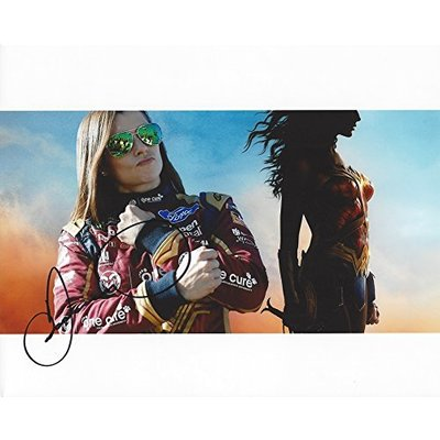 AUTOGRAPHED 2017 Danica Patrick #10 Wonder Woman Movie Racing WONDER WOMAN COLLAGE (Monster Energy Cup Series) Signed Collectible Picture NASCAR 8X10 Inch Glossy Photo with COA