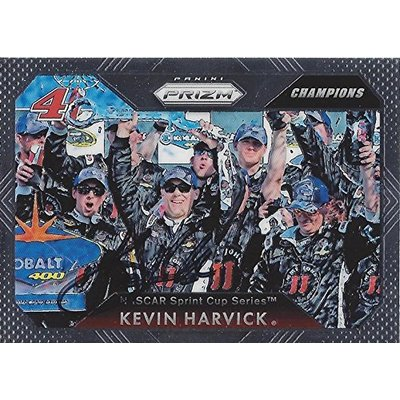 AUTOGRAPHED Kevin Harvick 2016 Press Pass Prizm Racing CHAMPIONS (Las Vegas Race Win) #4 Jimmy Johns Team Victory Lane Chrome Signed NASCAR Collectible Trading Card with COA