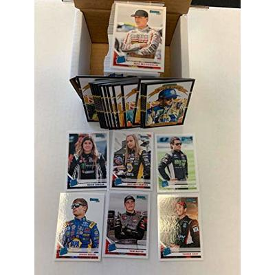 2020 Donruss Racing (Nascar) Complete Hand Collated 200 Card Trading Card Set With the 15 card Race Kings Subsets and 7 Rated Rookies. Incudes drivers Hailie Deegan, Derek Kraus, Sam Mayer, Tanner Gray, Max McLaughlin, Jesse Little, Brittney Zamora, Chase