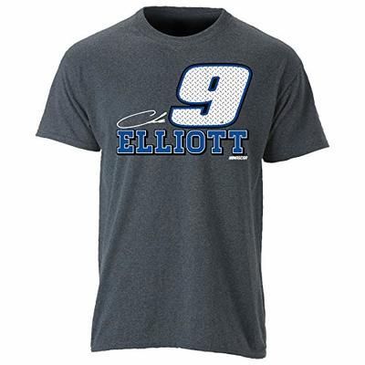 Ouray Sportswear NASCAR Men's Ouray S/S Tee Chase Elliott, Textured Grey, X-Large