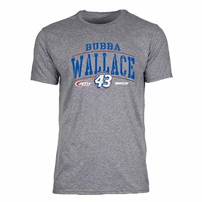 Ouray Sportswear NASCAR Men's Vintage Sheer S/S T Bubba Wallace, Premium Heather, Large