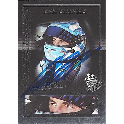 AUTOGRAPHED Aric Almirola 2015 Press Pass Racing (#43 Smithfield Petty Team) HEADLINERS Insert Signed Collectible NASCAR Trading Card with COA