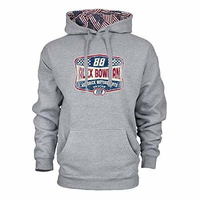 Ouray Sportswear NASCAR Men's Benchmark Colorblock Pullover Hood Alex Bowman, Premium Heather/Flag, XX-Large
