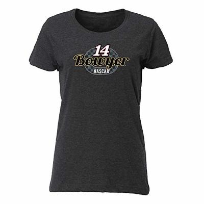 Ouray Sportswear NASCAR Women's Vintage Blend Relaxed Fit Tee Clint Bowyer, Smoke, XX-Large