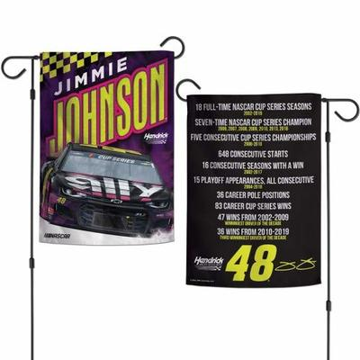 WinCraft NASCAR Jimmie Johnson 12×18 Garden Style 2 Sided Flag, One Size, Team Color