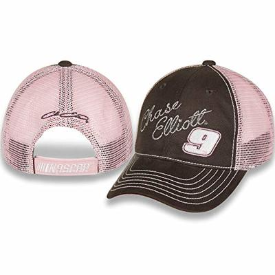NASCAR Youth Chase Elliot Grey Twill and Pink Mesh Back Adjustable Hat/Cap