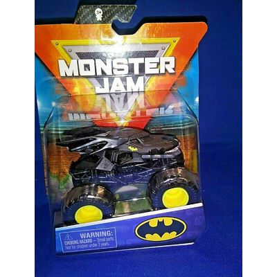 MONSTER JAM BATMAN BATMOBILE SERIES 11 BLACK DIECAST 1:64 SCALE WITH POSTER RARE