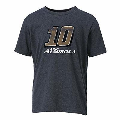 Ouray Sportswear NASCAR Youth Vintage Sheer S/S T Aric Almirola, Charcoal, Small