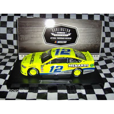 2018 Ryan Blaney #12 Menard's Darlington 1/24th.
