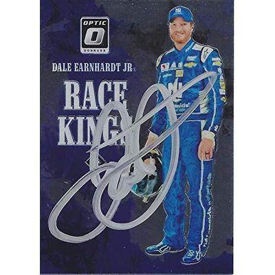 AUTOGRAPHED Dale Earnhardt Jr. 2019 Panini Donruss Optic Racing RACE KINGS (#88 Nationwide Team) Hendrick Motorsports Insert Signed NASCAR Collectible Trading Card with COA