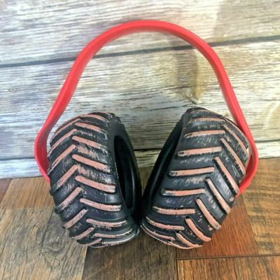 Monster Truck Monster Jam Child Noise Cancellation Head Phones Red Tires Youth