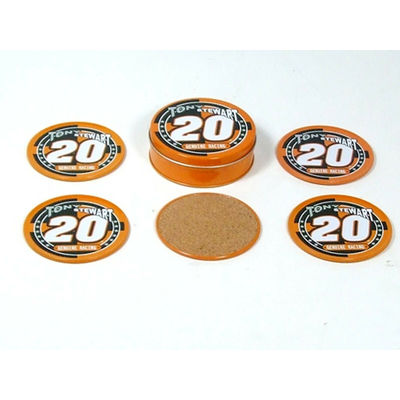 NEW TONY STEWART NASCAR RACING COASTERS SPORTS CUP COLLECTIBLES NOVELTY # 20 SET