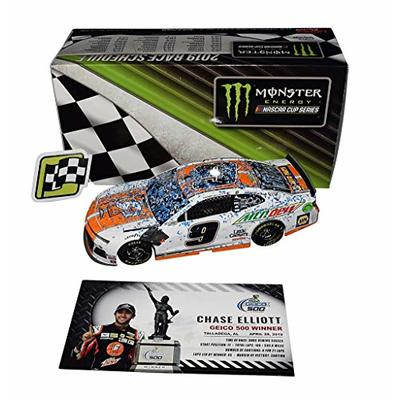 AUTOGRAPHED 2019 Chase Elliott #9 Little Caesars Racing TALLADEGA WINNER (Raced Version) Geico 500 Monster Cup Series Signed Lionel 1/24 Scale NASCAR Diecast Car with COA (1 of only 1,873 produced)