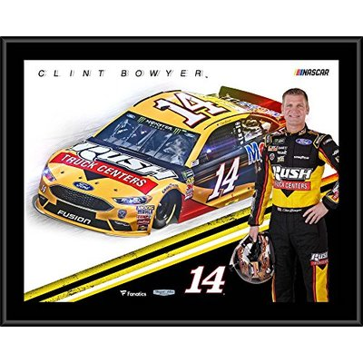 Clint Bowyer 12″ x 15″ 2018 RUSH Sublimated Plaque – NASCAR Driver Plaques and Collages