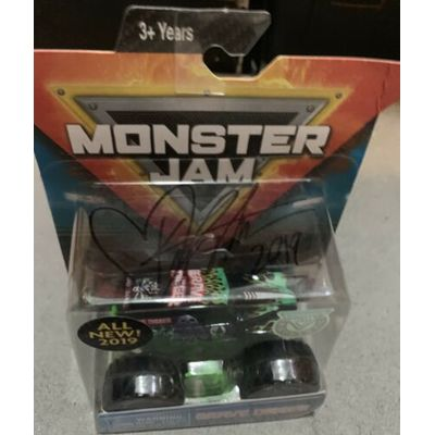 MONSTER JAM GRAVE DIGGER TRUCK AUTHENTIC SIGNED KRYSTEN ANDERSON 2019 AUTOGRAPH