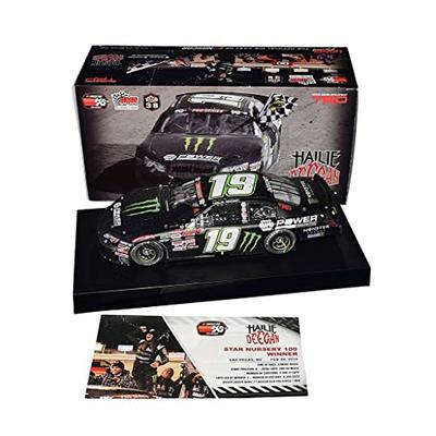 AUTOGRAPHED 2019 Hailie Deegan #19 Monster Energy Racing LAS VEGAS WIN (Raced Version) Bill McAnally Racing K&N Series Signed Lionel 1/24 NASCAR Diecast Car with COA (#0275 of only 1,333 produced)