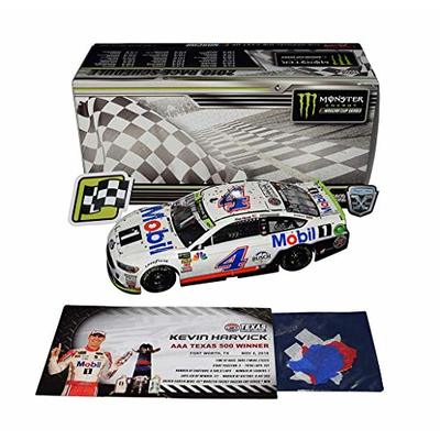 2X AUTOGRAPHED 2018 Kevin Harvick & Rodney Childers #4 Mobil 1 Racing TEXAS 500 WINNER (Raced Version with Confetti) Dual Signed Lionel 1/24 NASCAR Diecast Car with COA (#314 of only 505 produced)