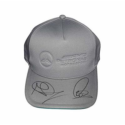 2X AUTOGRAPHED Lewis Hamilton & Nico Rosberg 2016 Mercedes F1 Racing (AMG Petronas Motorsports) Dual Signed Formula 1 Official Gray Hat New with Tags & COA