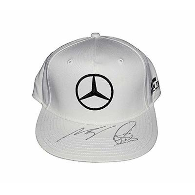 2X AUTOGRAPHED Lewis Hamilton & Valtteri Bottas Mercedes F1 Racing (AMG Petronas Motorsports) Dual Signed Formula 1 Official White Hat New with Tags & COA