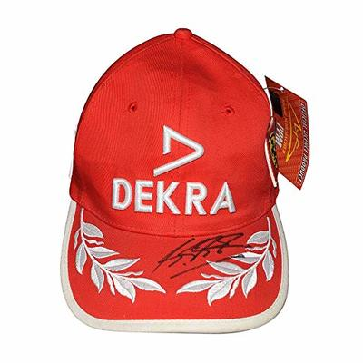 AUTOGRAPHED Michael Schumacher 1999 DEKRA Ferrari F1 Racing Team Signed Formula 1 Official Red PPM Vintage Hat New with Tags & COA